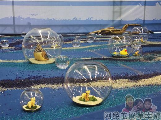 臺北花卉裝置藝術設計大展25-珍奇大陸-漂流河上有些植物動物需被保護