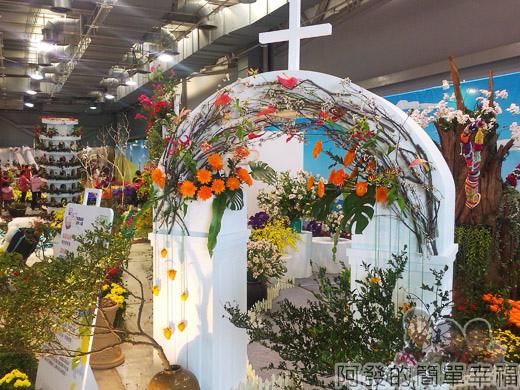 臺北花卉裝置藝術設計大展27-戀戀愛情海-教堂外觀設計