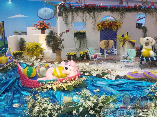 臺北花卉裝置藝術設計大展28-戀戀愛情海-旅人的夢想