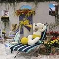 臺北花卉裝置藝術設計大展29-戀戀愛情海-享受悠閒與浪慢