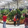 臺北花卉裝置藝術設計大展32-沙漠綠洲-來自杜拜的明信片-棕櫚島嶼n變色龍n帆船飯店