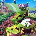 臺北花卉裝置藝術設計大展38-花漾荷蘭-木屐外觀的花藝設計