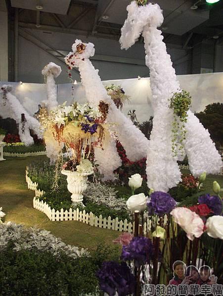 臺北花卉裝置藝術設計大展43-浪漫巴黎-法式庭園花藝設計