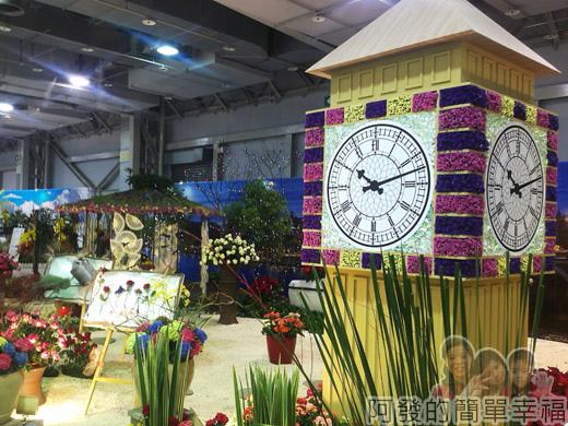 臺北花卉裝置藝術設計大展45-瑰麗英倫-新穎又古樸的階道與大笨鐘