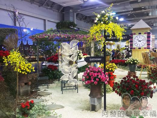 臺北花卉裝置藝術設計大展46-瑰麗英倫-來杯英式下午茶吧