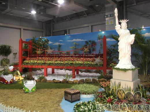 臺北花卉裝置藝術設計大展49-金山國度-金門大橋n自由女神
