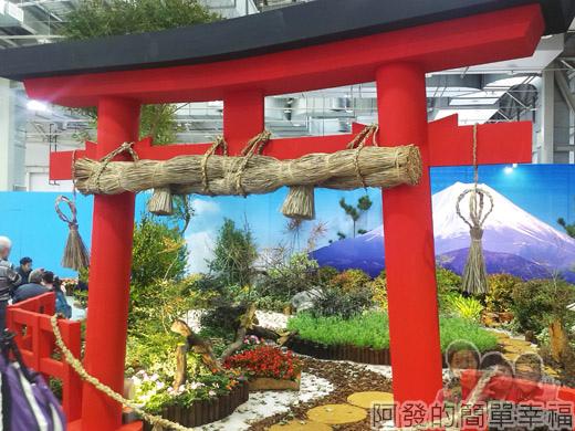 臺北花卉裝置藝術設計大展53-近日富嶽-鳥居與富士山