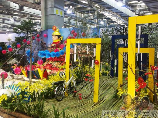 臺北花卉裝置藝術設計大展59-臺灣之美-天地任遨遊-媽祖廟與鐵馬專用綠林道