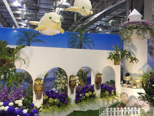 臺北花卉裝置藝術設計大展63-臺灣之美-東亞之光-鵝鑾鼻燈塔