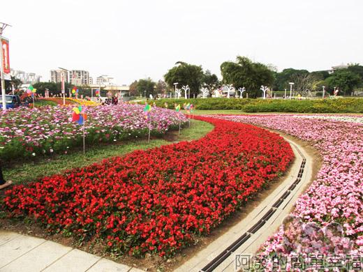 2014臺北花卉展29-圓山園區-花毯與風車