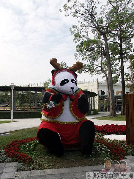 2014臺北花卉展30-圓山園區-聖誕貓熊