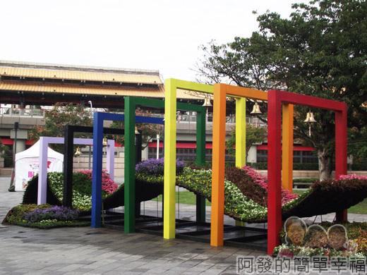 2014臺北花卉展04-圓山園區1區-聖誕夢想之橋1
