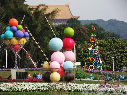 2014臺北花卉展14-圓山園區4區-Honey聖誕2
