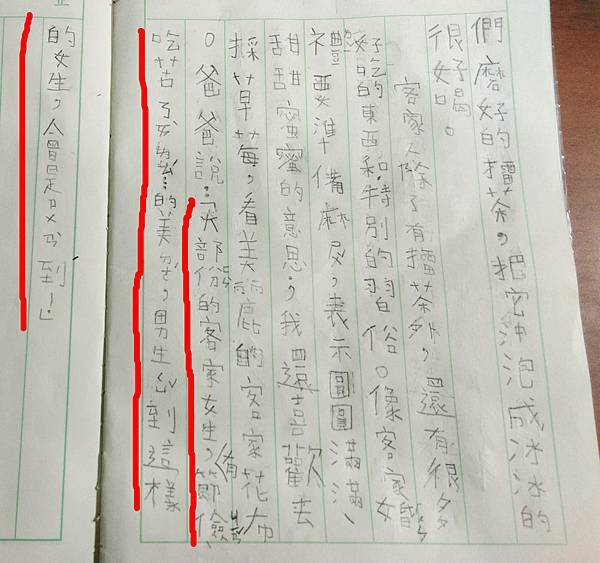 20141221-只是碎碎唸 兒子的週記作業