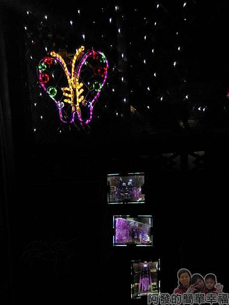 吉慶里聖誕巷30-蝴蝶燈飾