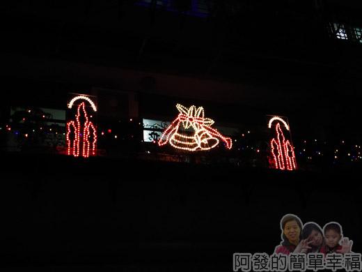 吉慶里聖誕巷36-公寓樓上的燈飾