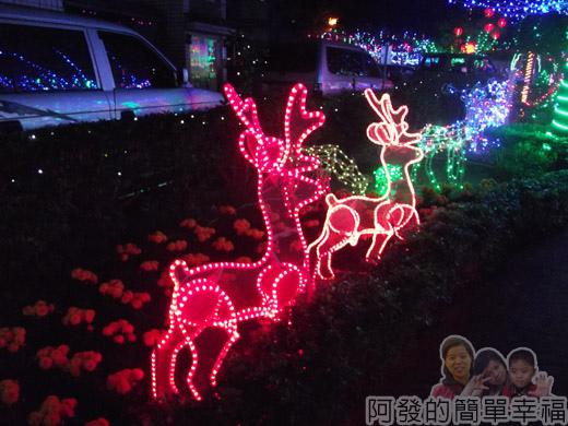 福興里聖誕公園04-平面麋鹿燈飾