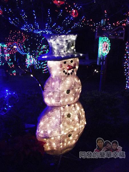 福興里聖誕公園13-雪人燈飾