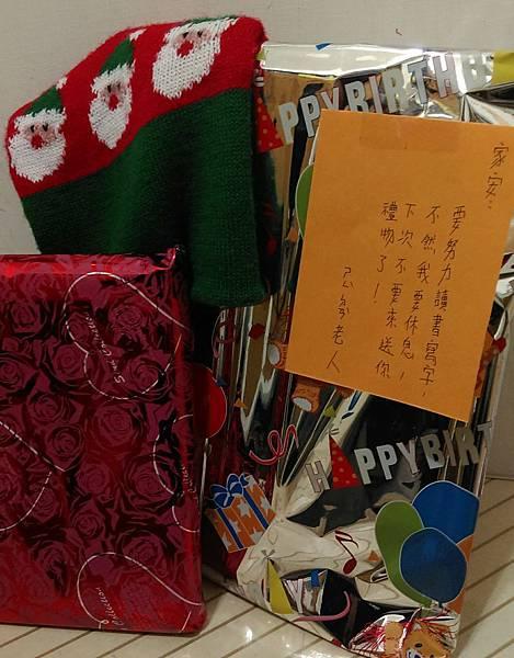 20141224-只是碎碎唸 兒子的聖誕老人生病了