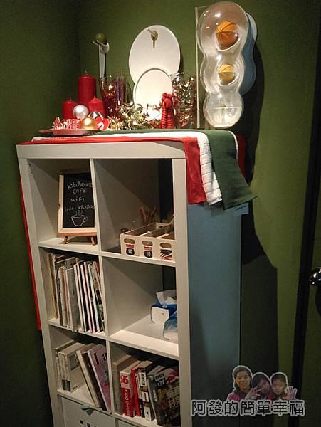 小廚房創意早午餐10-角落的餐具及書報櫃