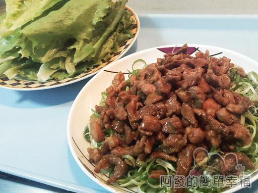 京醬肉絲15-蘿美生菜與京醬肉絲
