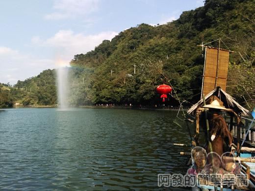 長埤湖風景區10-湖中的半人造彩虹III