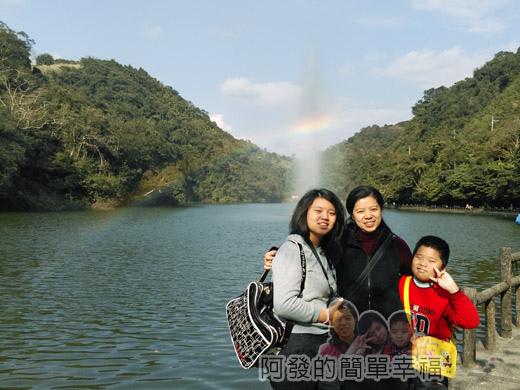 長埤湖風景區12-與彩虹的留影
