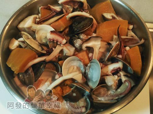 鮮奶南瓜海鮮焗燉飯03-起鍋