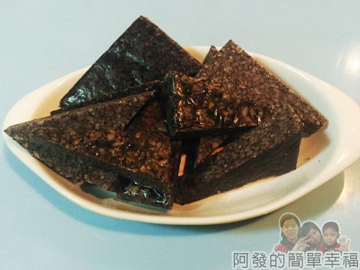 麻油雞麵線-市場小吃風味版03-米血糕切三角塊