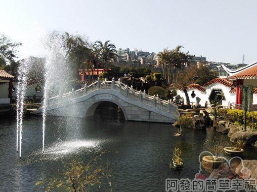 壽山巖觀音寺07-中式傳統水池庭園II