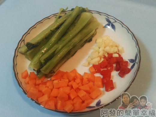 炒蘿蔔葉梗03-食材