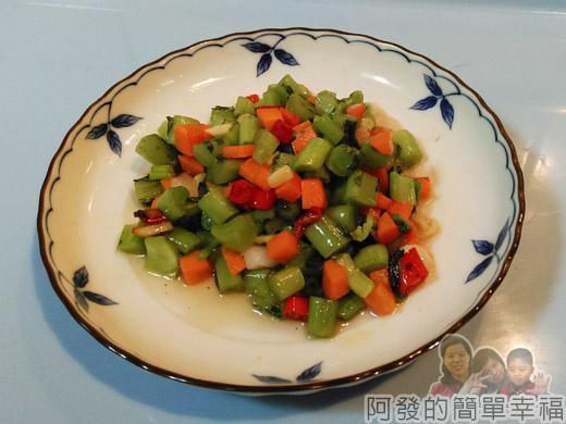 炒蘿蔔葉梗05-完成