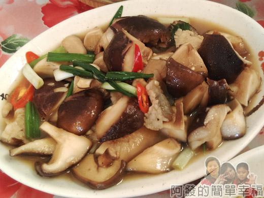 角板山-林記客家小吃12-炒段木菇