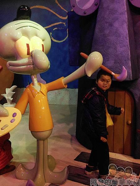 海綿寶寶暢遊比奇堡特展17-章魚哥在家嗎
