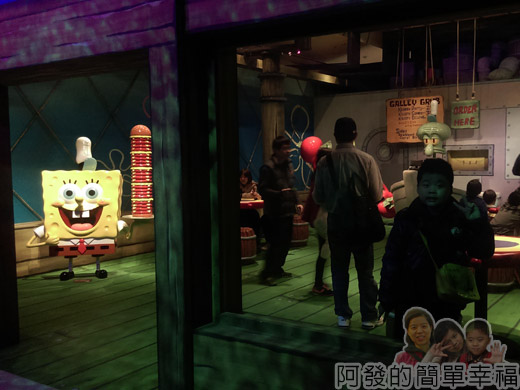 海綿寶寶暢遊比奇堡特展40-蟹堡王場景