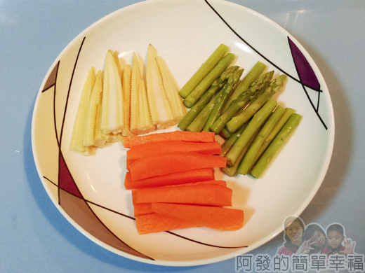 照燒秋刀魚捲02-蔬菜切長條狀