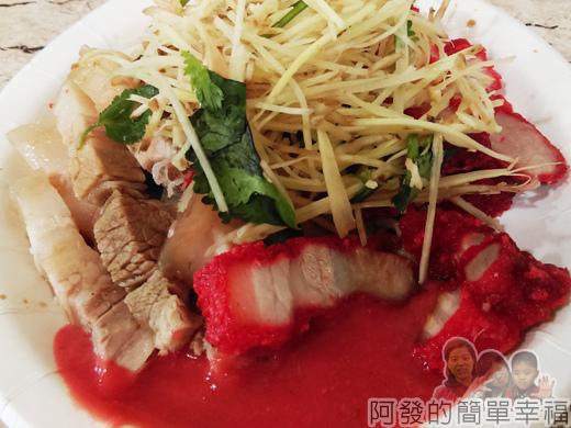 新莊-閹豬切仔麵09-三層肉與紅燒肉