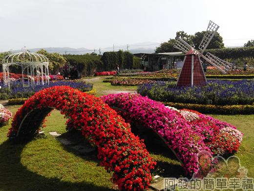 中社觀光花市18-歐式庭園區一景