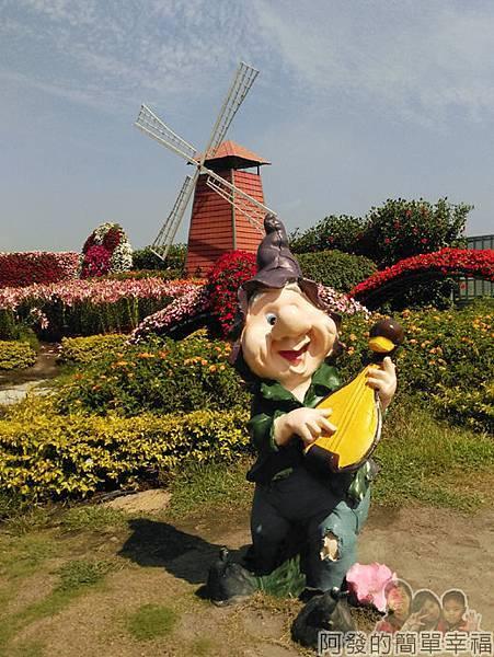 中社觀光花市27-花圃小矮人裝飾