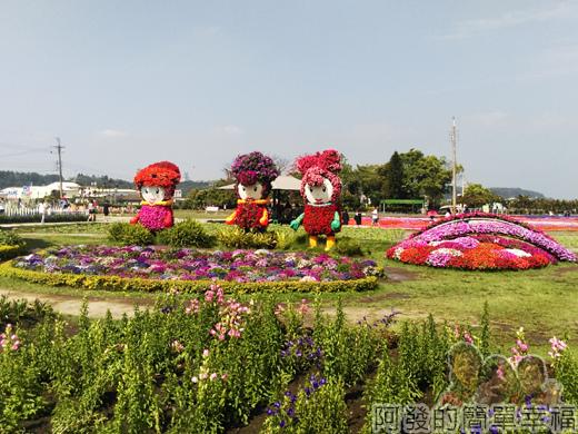 中社觀光花市32-好眼熟的花仙子造景