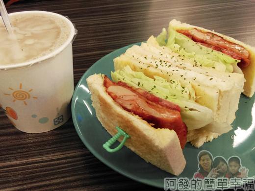 亞米洛複合式早午餐11-本日特餐雞腿排總匯