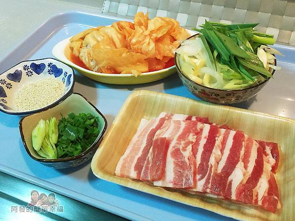 NEW-韓式泡菜炒肉片01-食材