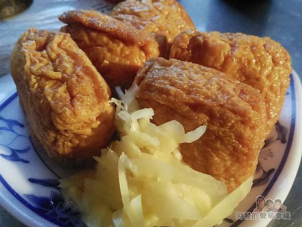艋舺夜市-二十年老店蚵仔煎16-豆皮壽司