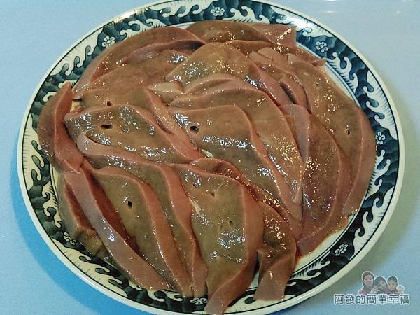 蔥炒豬肝02-豬肝切片