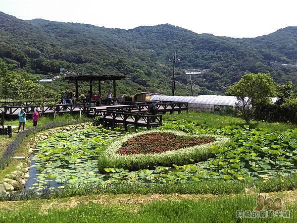 白石湖20-浪漫同心池,後方為永結亭