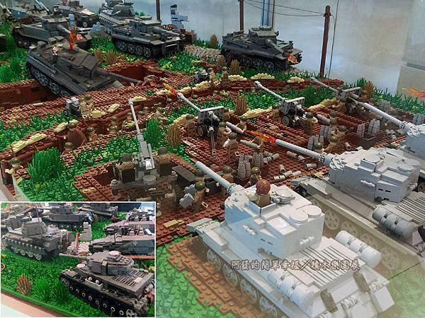 積木樂園展21-A棟1F-重裝任務展區-庫斯克戰役展櫃_坦克大戰-7人共同創作
