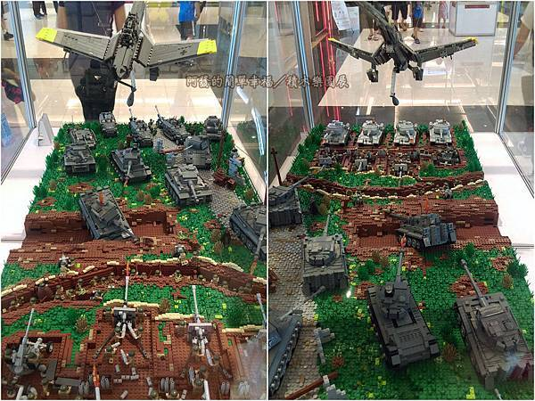 積木樂園展22-A棟1F-重裝任務展區-庫斯克戰役展櫃_坦克大戰