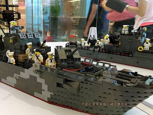 積木樂園展26-A棟1F-重裝任務展區-二戰德軍艦艇展櫃-局部特寫