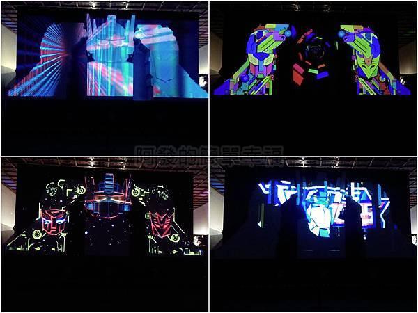 變形金剛台北特展13-博派再現-3D立體光雕投影
