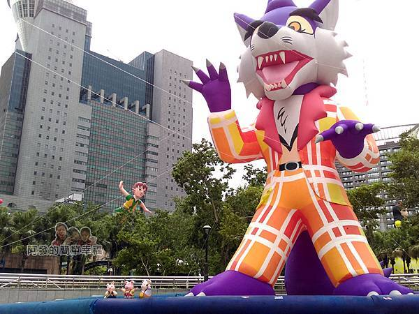 新北市兒童藝術節-童話城堡09-童話巨型裝置-三隻小豬與大野狼